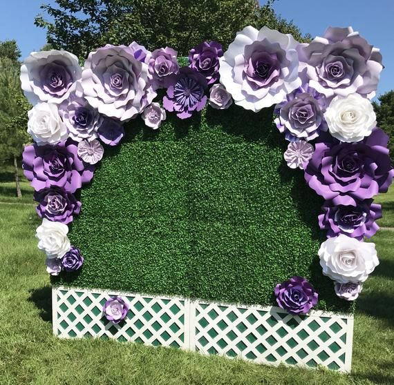 Large Paper Flower Backdrop / Giant Paper Flowers / Paper Flower Wall / Wedding Wall / Wedding Arch / Bridal shower #bigpaperflowers