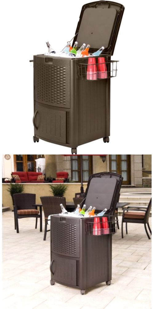 Ice Chests And Coolers 79691: Suncast Wicker Cooler Outdoor Patio 77 Qt  Resin Ice Chest