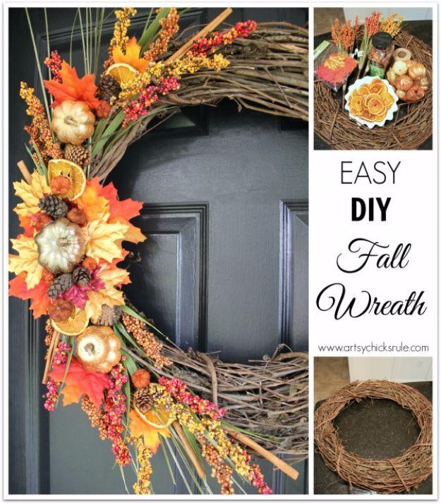 Fall Wreath Ideas Part - 45: 35 Fall Wreaths For Your Door