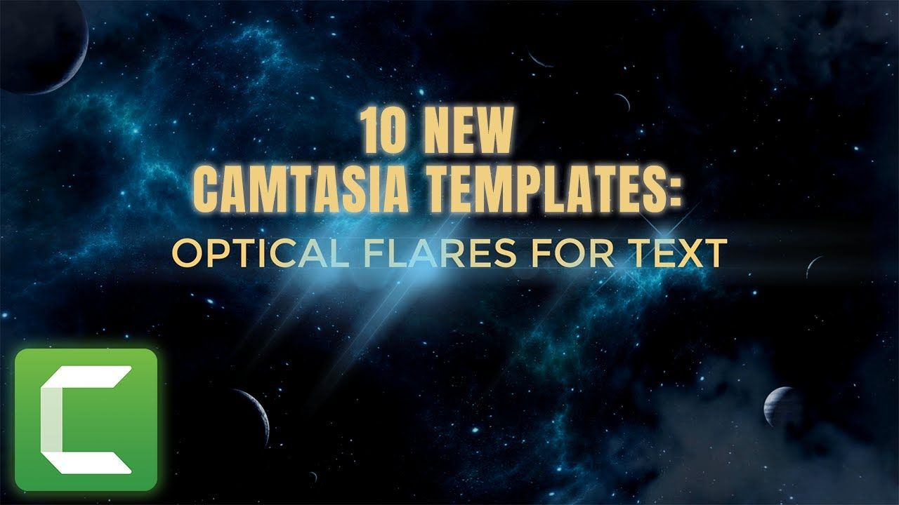 Camtasia Template Collection: Text Lens Flares https://www ...
