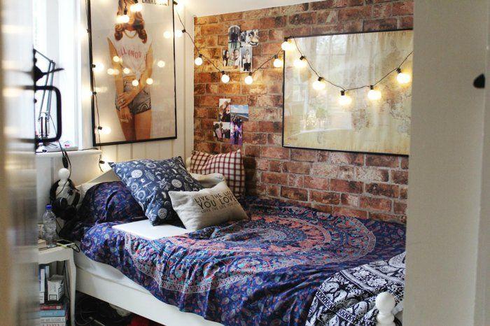 Schlafzimmer Tumblr ~ Schlafzimmer ideen im bohemian stil kleine schlafzimmer mit bett