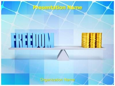 Freedom Money Balance Powerpoint Template Is One Of The Best