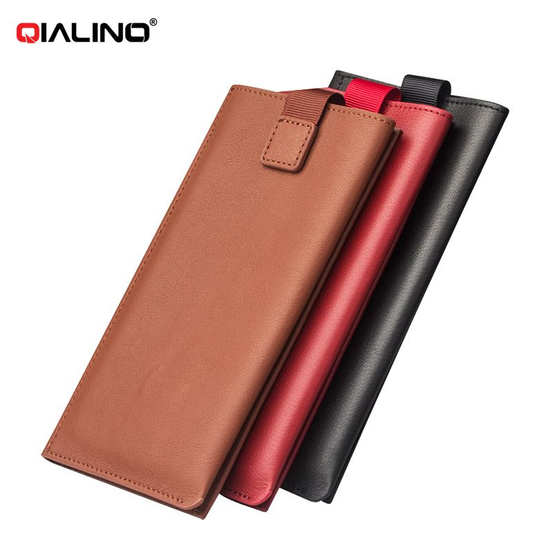 QIALINO Genuine Leather Pouch Wallet Phone Case for Xiaomi Mi 5s / 5s Plus #Affiliate