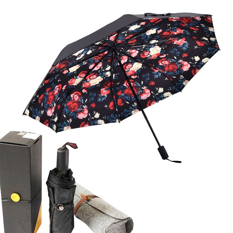 Yuding Umbrella Double Layer Parasol Sunny And Rainy Sunscreen Folding Women Umbrella Non-automatic Umbrella