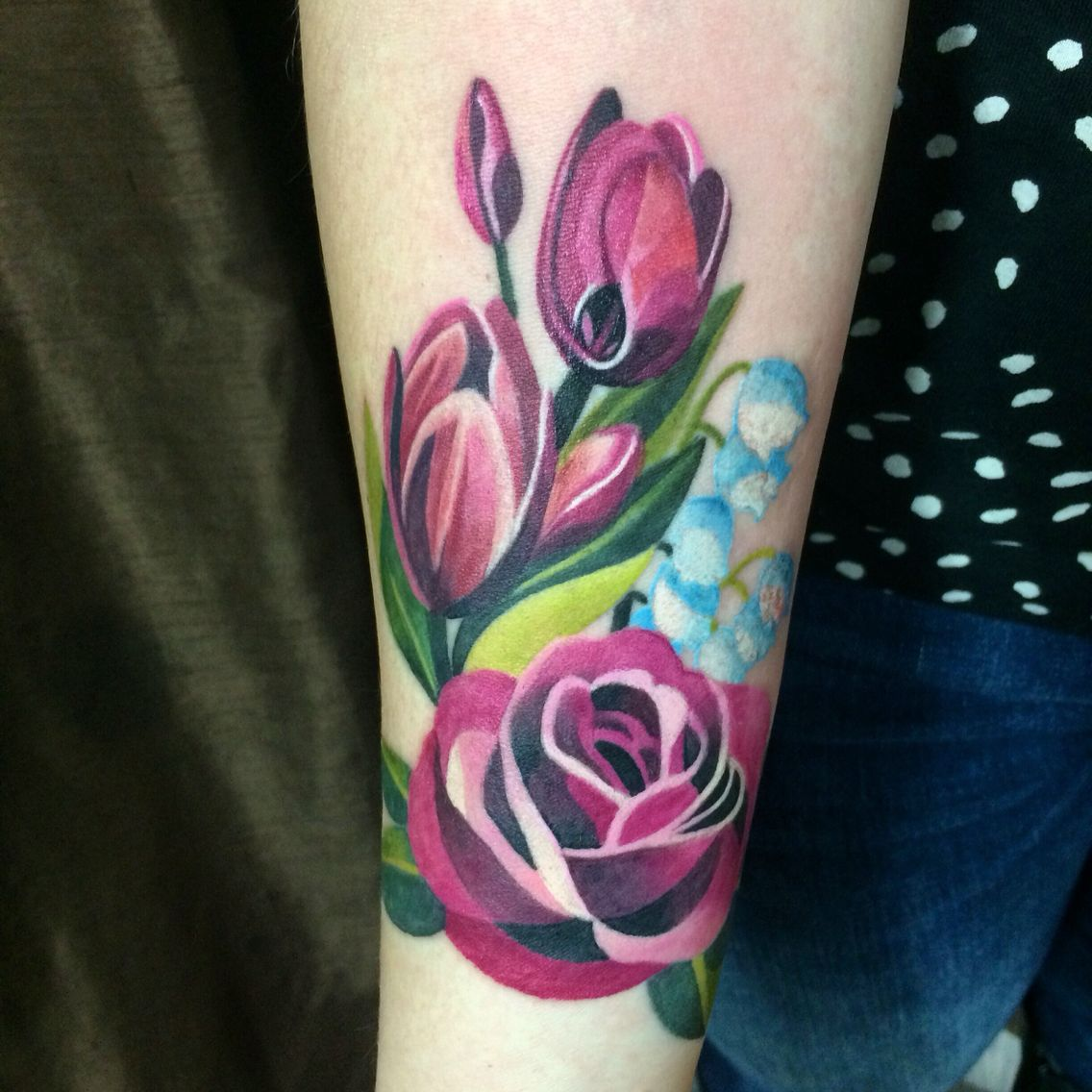My Sasha Unisex Inspired Floral Tattoo I Love It Tulips Lily Of