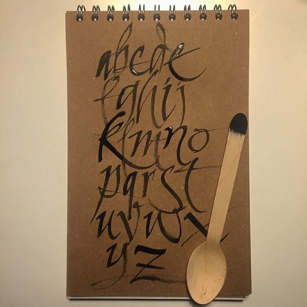 La herramienta es lo de menos #calligraphy #italic