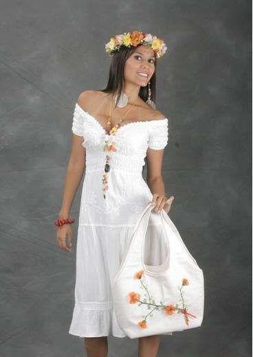 Modelos de vestidos casuales de manta