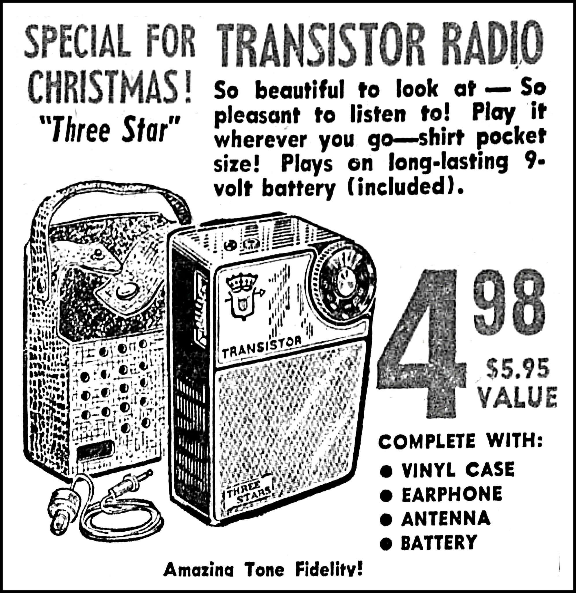Vintage Advertising For The Three Stars Boy S Radio Model