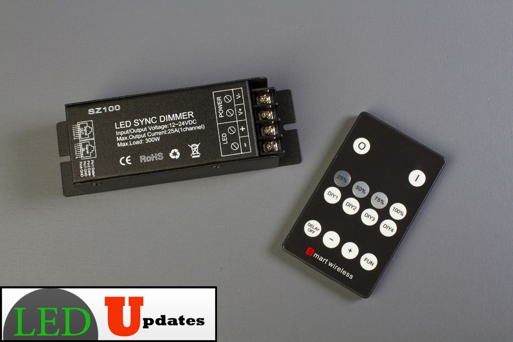 Wireless Single Color LED Light Controller 25 Amps