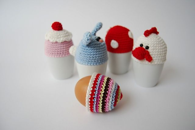 Egg covers from Woolytoons