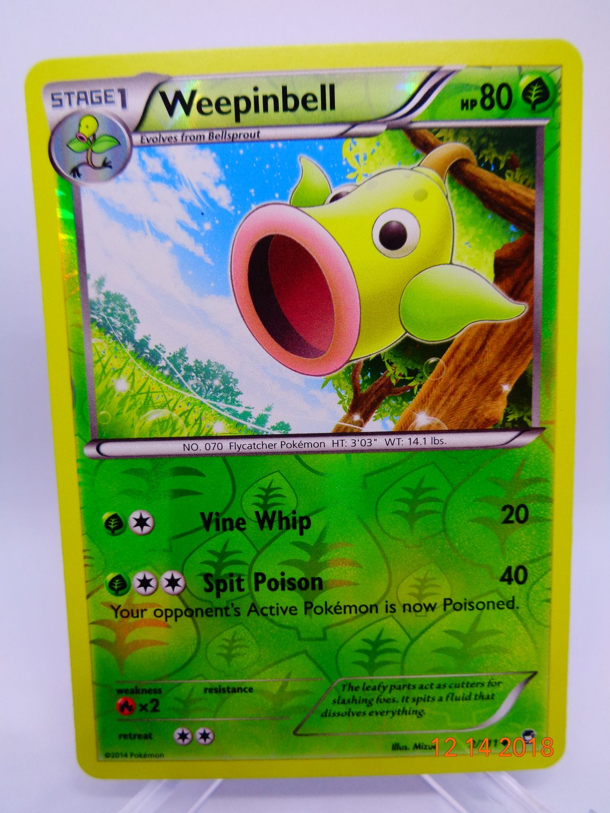 Furious Fists 2//111 Weepinbell Reverse Holo Pokemon Card