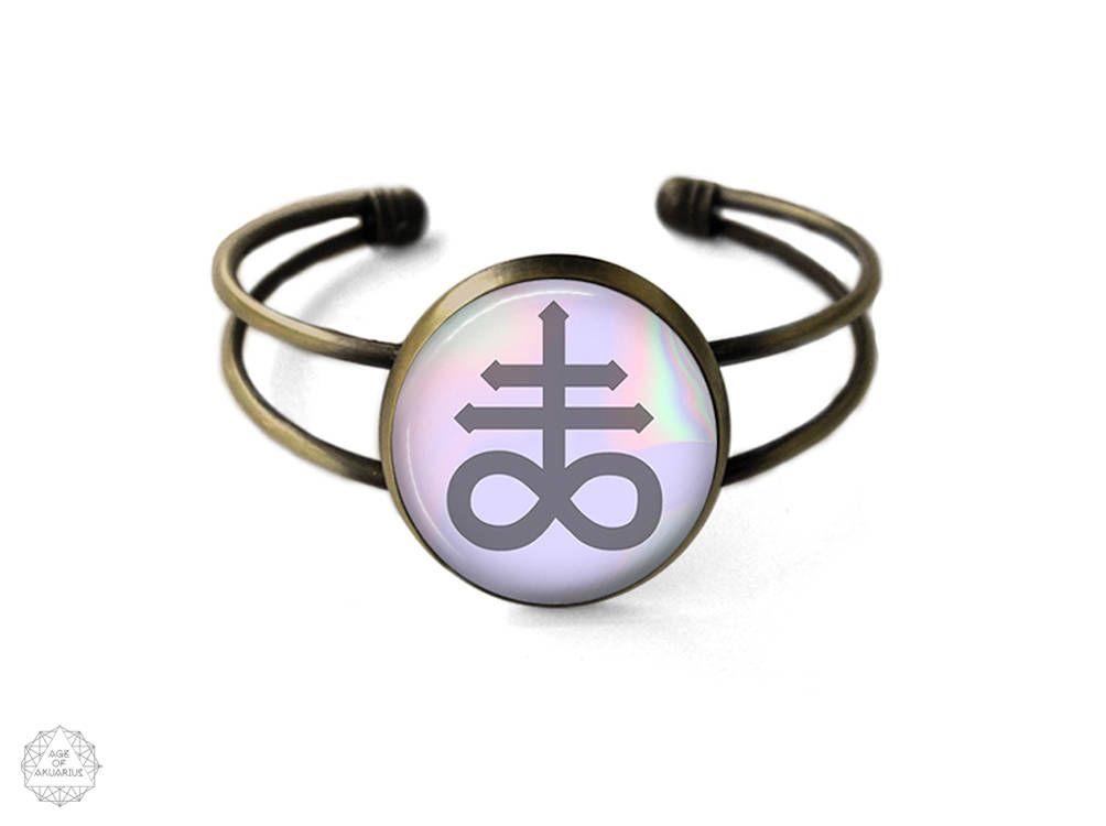 Leviathan Cross Cuff Bracelet | Satanic Jewelry, Bangle, Satanic