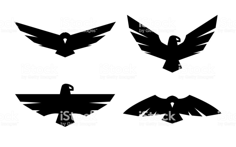 Eagle, a set of monochrome icons Vector illustration. in