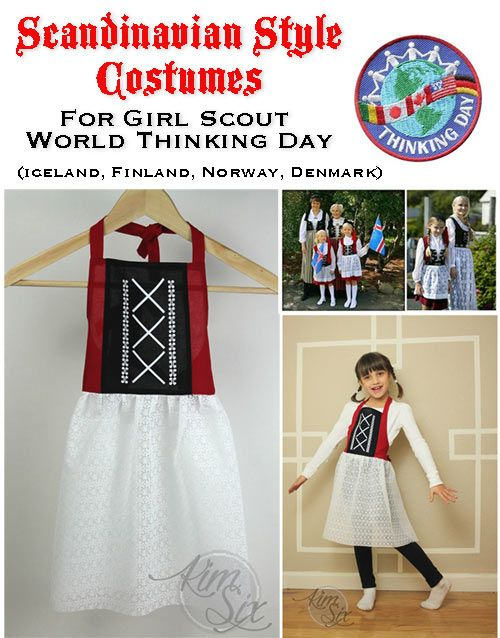 Easy Diy Scandinavian Costumes For Thinking Day Scandinavian Costume World Thinking Day Norway Girls