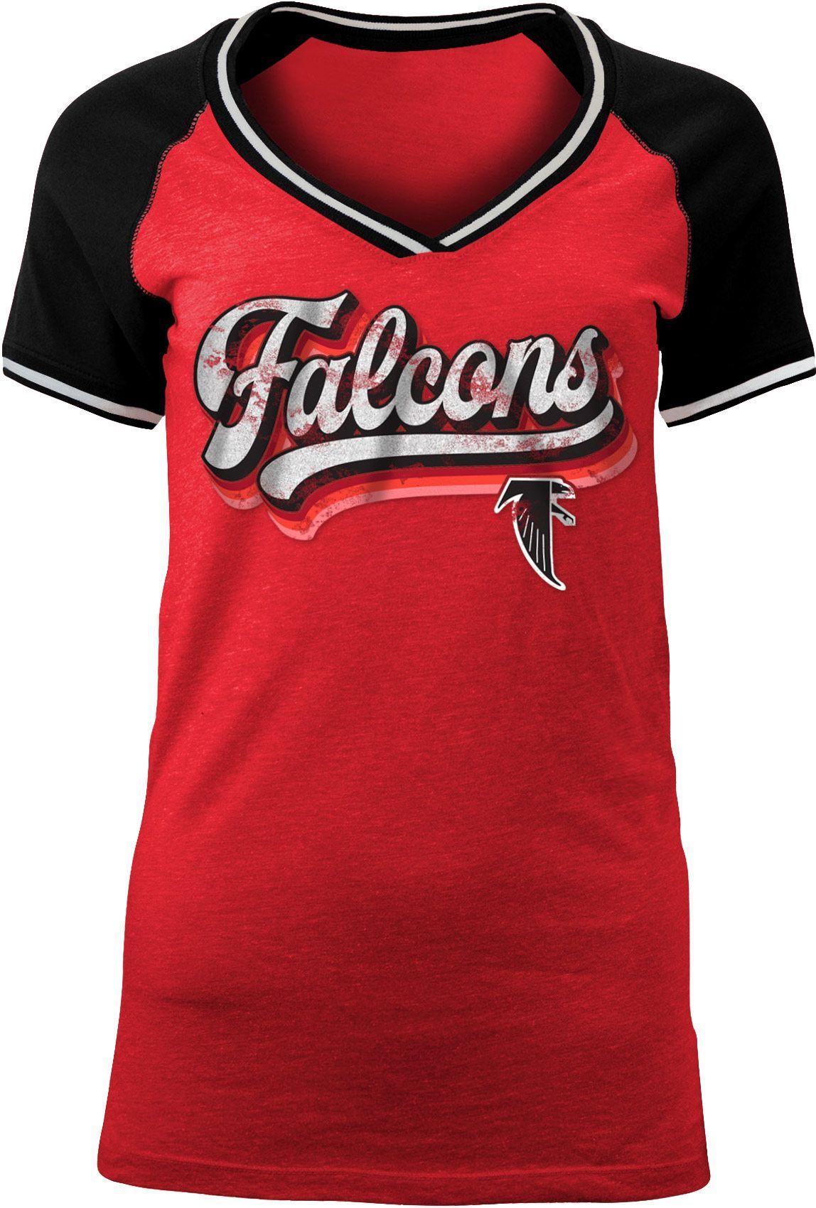 best service d32f9 39386 NFL Team Apparel Women's Atlanta Falcons Retro Glitter T ...