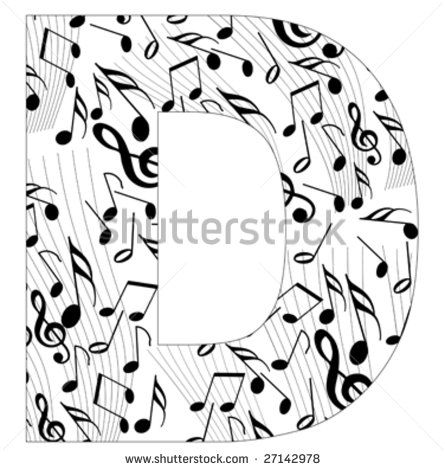 Alfabeto Tattoo Note Musicali Lettera N Picture