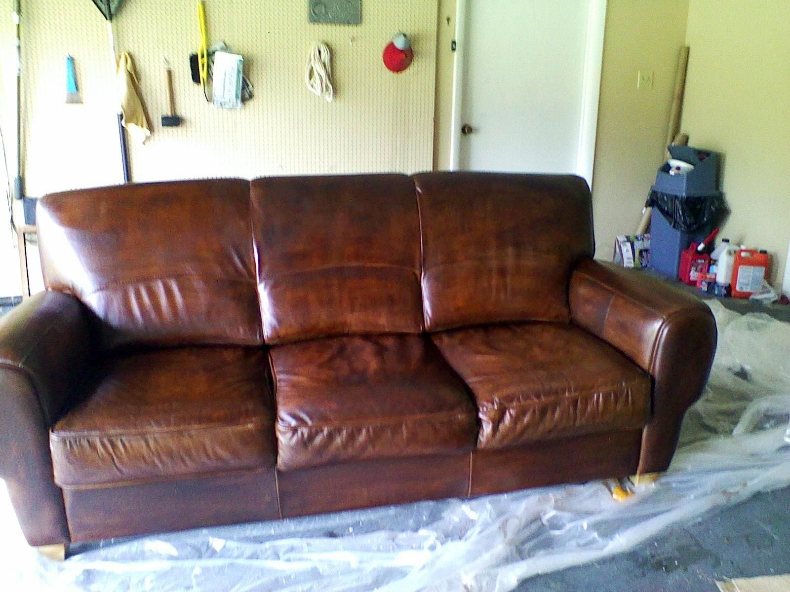 how to restore a leather sofa chaise sleeper weeds dye or stain furniture do it