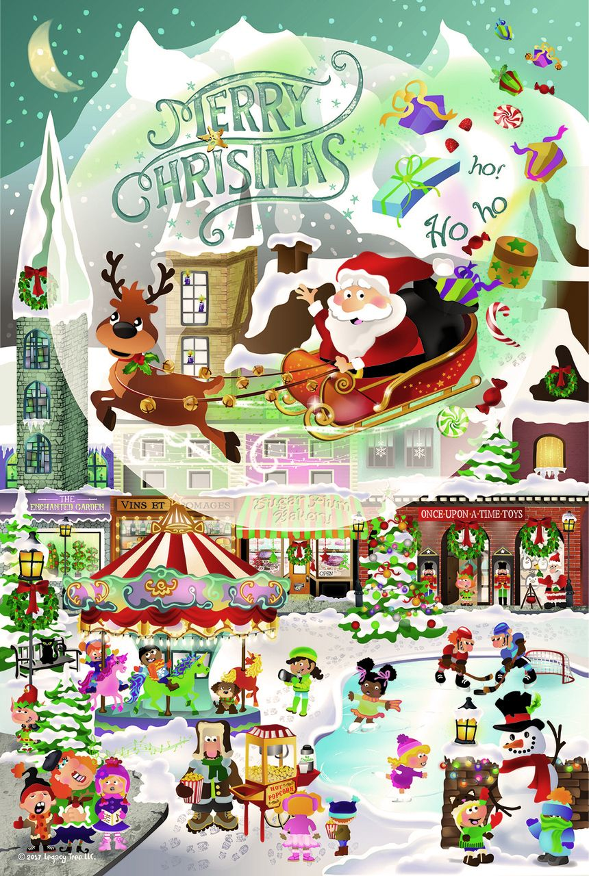 A Christmas Village for All Ages - 625pc Family Jigsaw