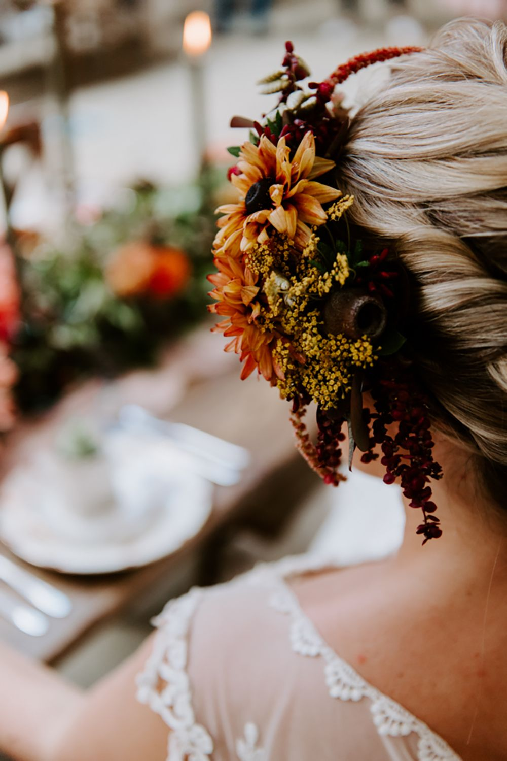 Ethical Wedding Ideas in Incredible Autumnal Style #bridalhairflowers