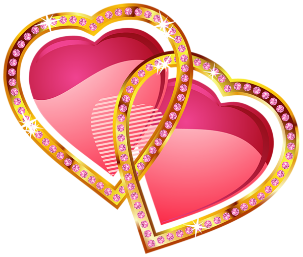 Hearts With Gold And Diamonds Clipart Heart Clip Art Clip Art Colorful Heart