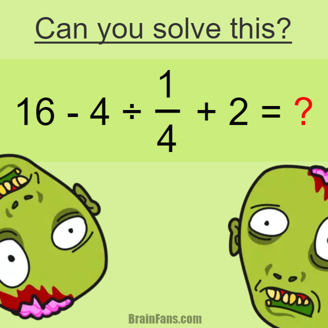 Brain teaser Number And Math Puzzle Can you solve this