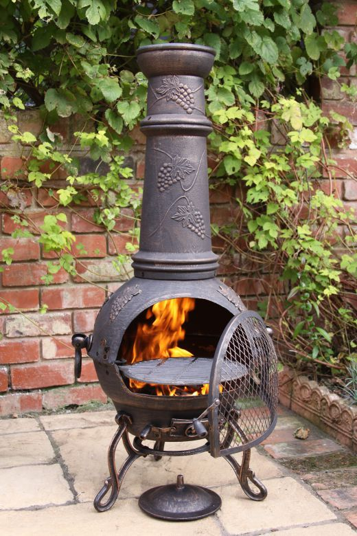 Patio Time Fire Pit Chimney Outdoor Fire Pit Chiminea