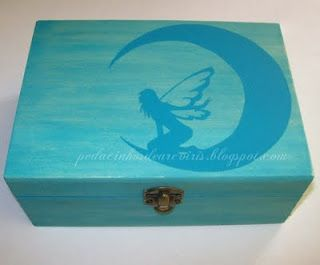 wood box, hand painted