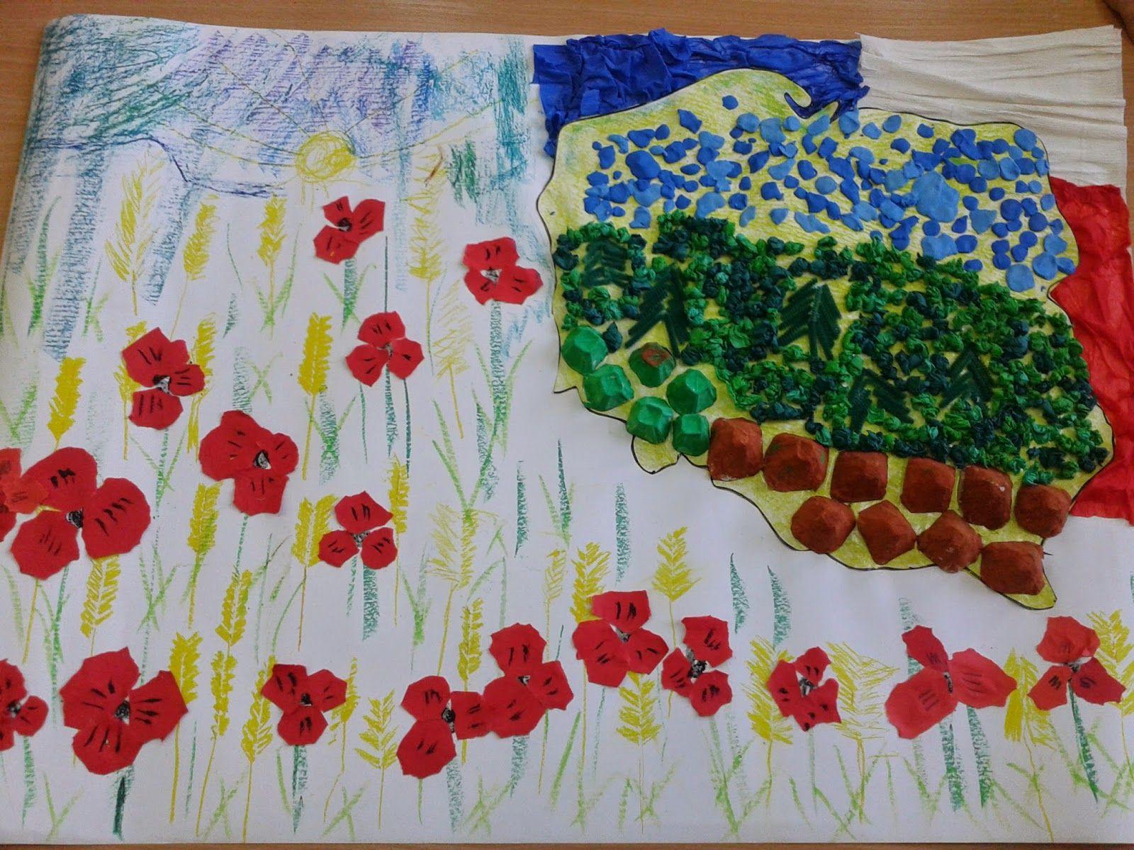 Edudzieciaki Praca Plastyczna Mapa Polski Inspiration Kindergarten Tableware