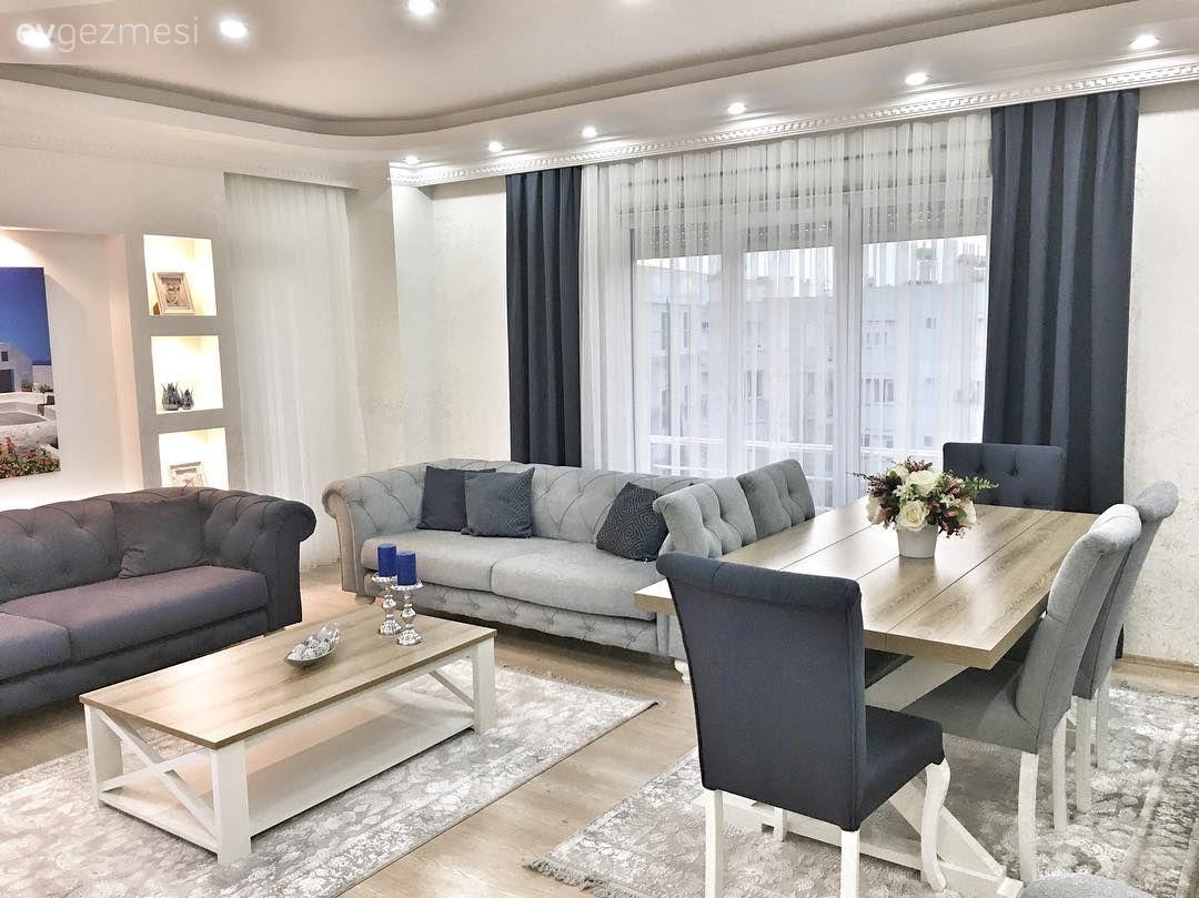 Serin Tonlar Sik Detaylarla Sakin Ve Sofistike Bir Dekor 2 Ev Gezmesi Oturma Odasi Takimlari Oturma Odasi Fikirleri Dekor