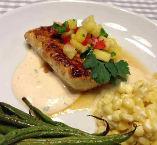 honey lime mahi mahi with pineapple salsa and chipotle