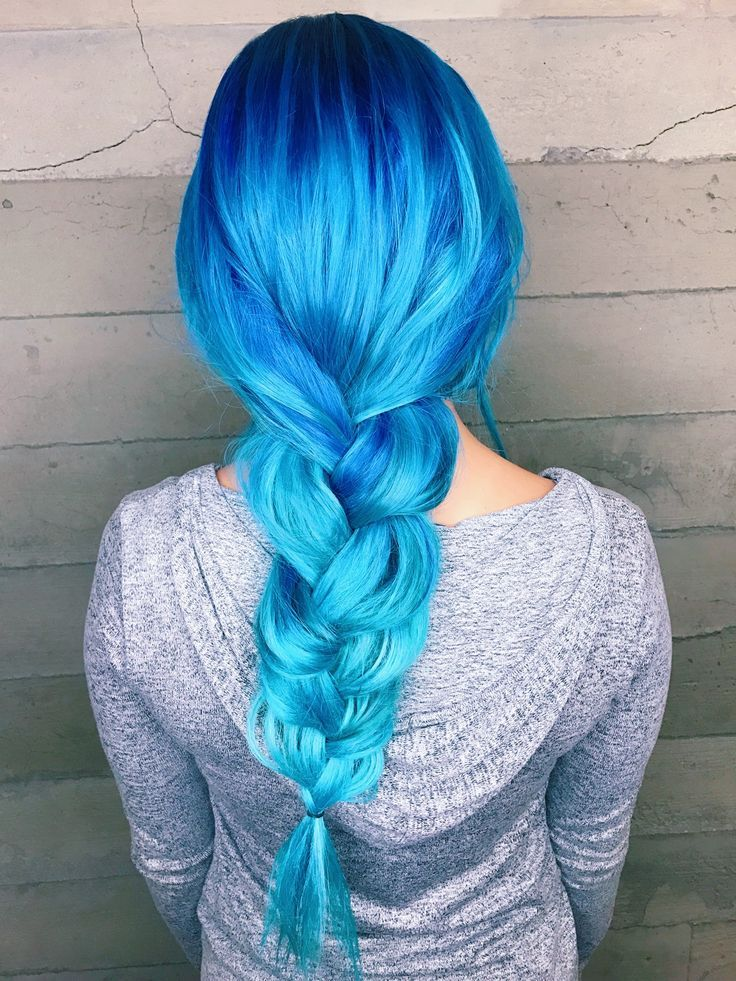 Best 25 Blue Hombre Hair Ideas On Pinterest Dyed Hair