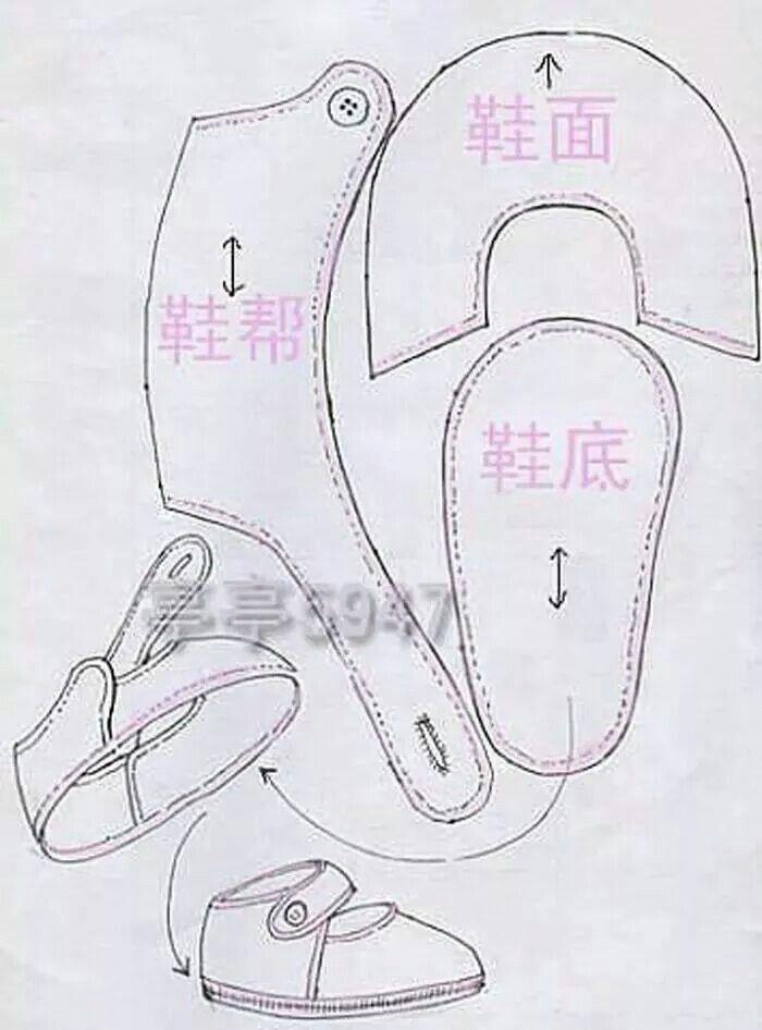 Patrones zapatillas | fieltro y tela | Pinterest | Bebe, Zapatos de ...