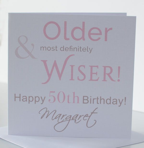 Birthday Card Wife Daughter Friend Mum Sister Nan 30th 40th 50th