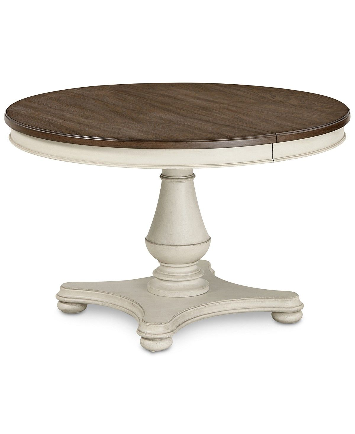 Furniture Barclay Expandable Round Dining Pedestal Table Reviews Furniture Macy S In 2020 Dining Table With Leaf Round Dining Expandable Round Dining Table