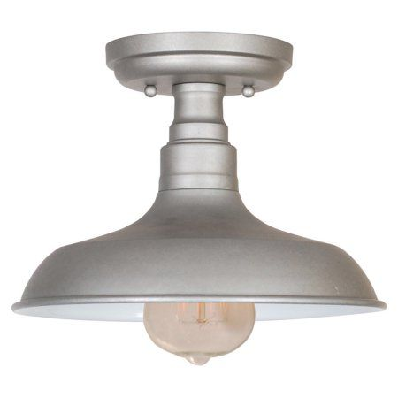 Free Shipping. Buy Design House 519876 Kimball 1-Light Ceiling Mount Industrial Light, Galvanized Steel at Walmart.com