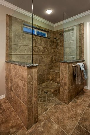 Traditional Master Bathroom With Choose Frameless Pivot