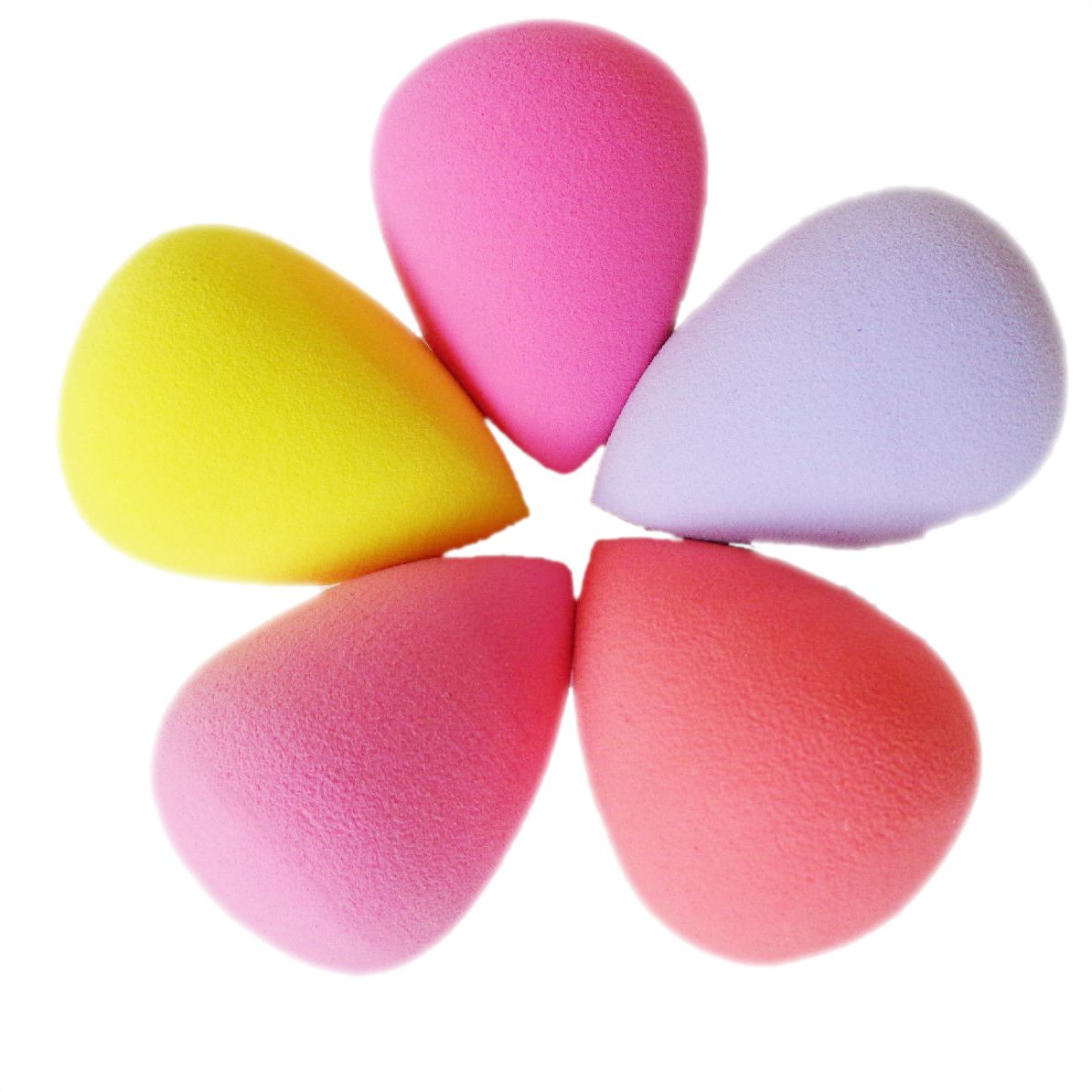 5Pcs Cosmetic Puff Makeup Sponge Flawless Smooth Shaped