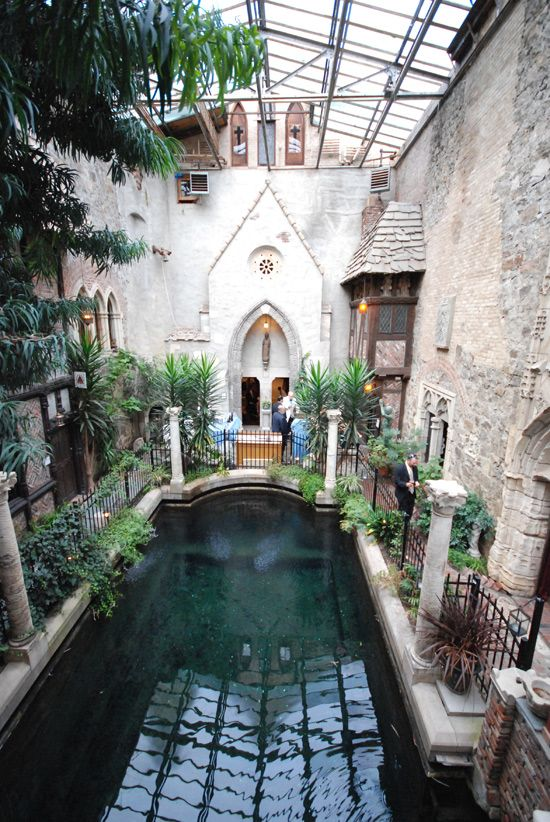 Interior courtyard castle pool pond inside plants also luxury rh pinterest