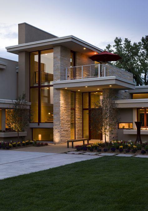 19 fachada de casa moderna doble altura t for Casa moderna design