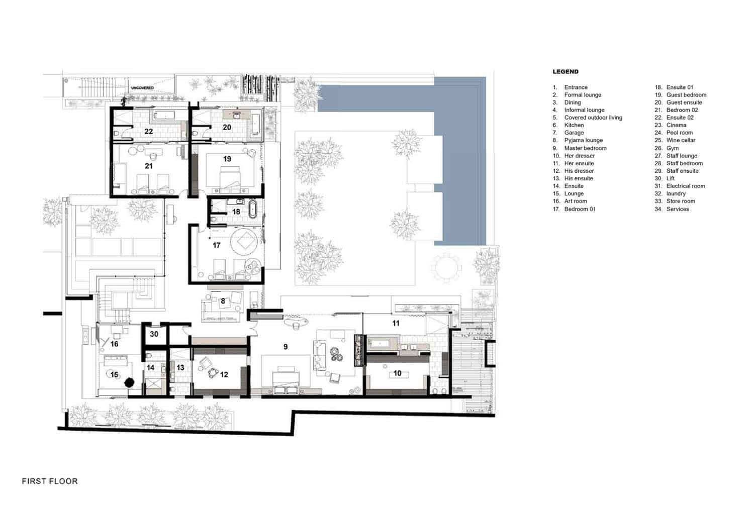 Chic Modern Home Offers Astonishing Views Of South Africa S Coast Modern House Large Floor Plans House Plans