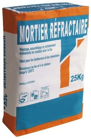 Mortier Réfractaire Sac De 25 Kg Vpi Sélection