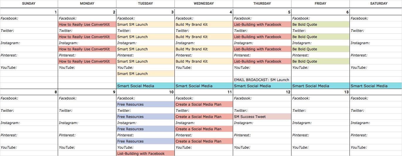 Free Content Calendar Template 2021 An Epic Social Media Content Calendar Template for 2021 (with