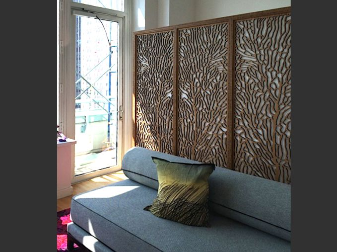 A Sea Foam Room Divider For Home In New York City