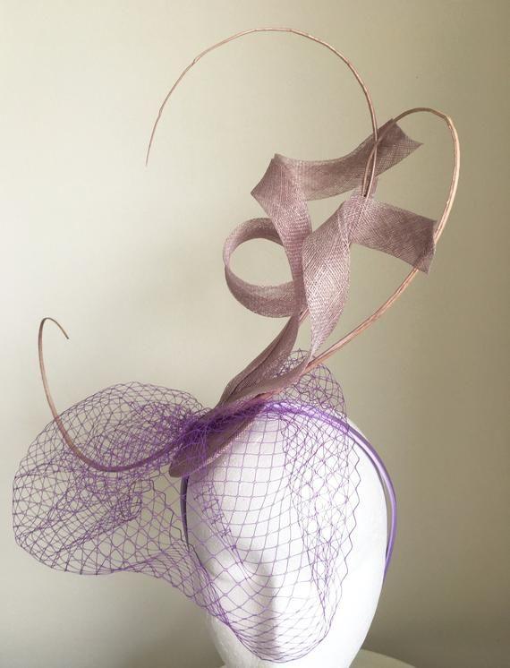 9105a9fe7b5 TheHeadwearBoutique on Etsy- Issy Lilac Light Purple Fascinator Kentucky  Derby Oaks Fascinator
