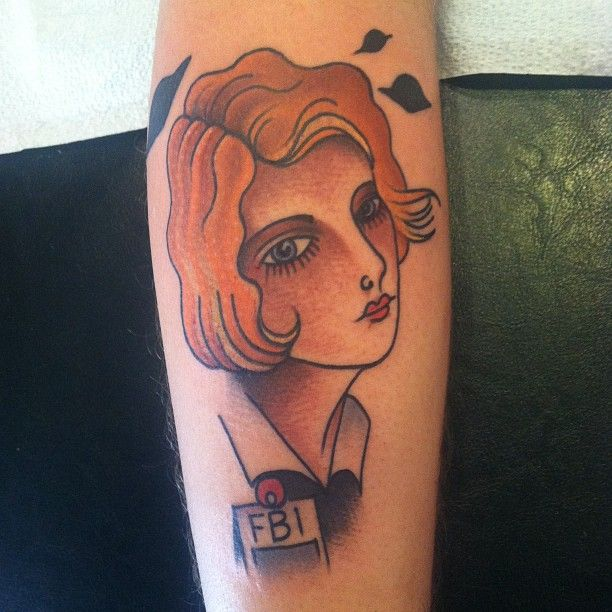 Cool Scully tat by Thomas Kenney