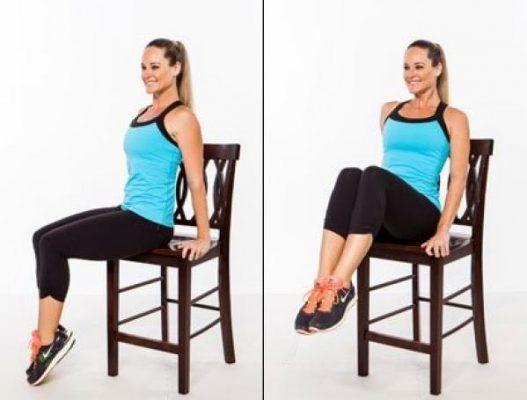 5 ejercicios con silla que reducen la grasa de la panza rápidamente | Ejercicios para reducir barriga, Ejercicios para la barriga, Ejercicios adelgazar