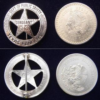 Texas Rangers Badge made from Mexican coin  | History of the