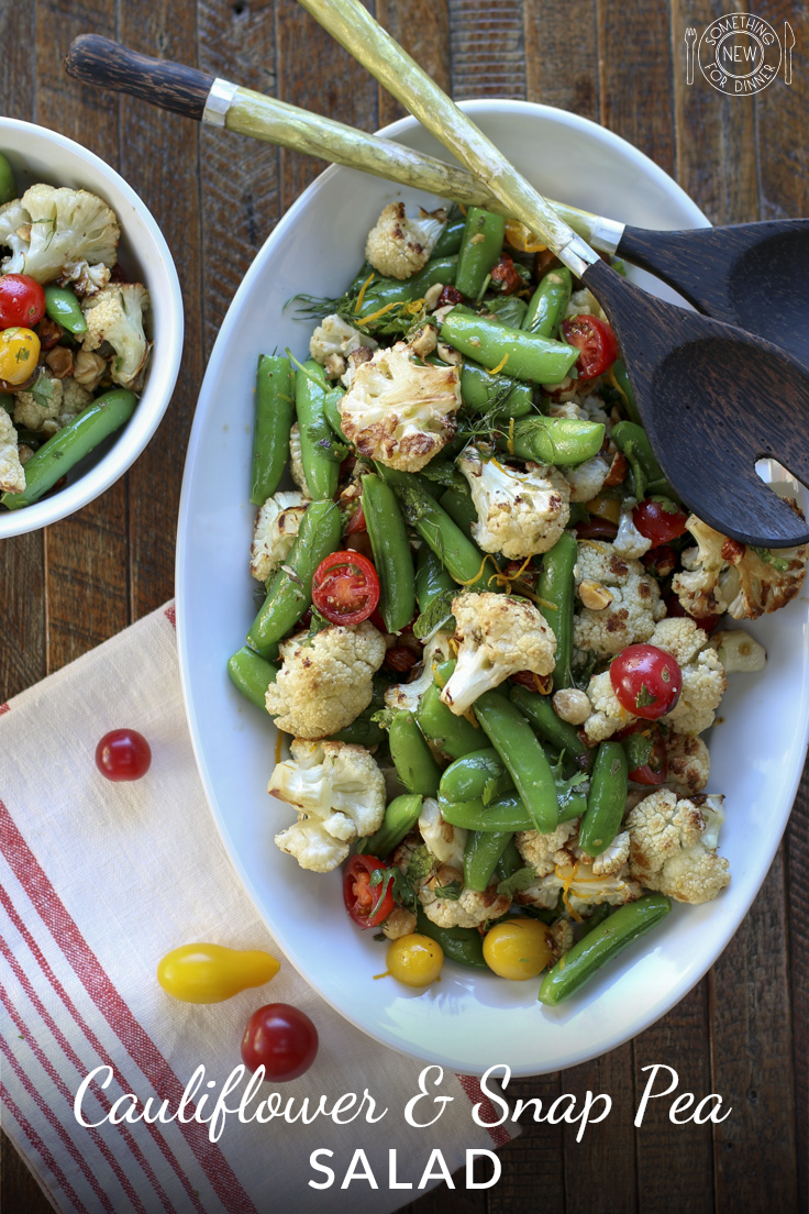 Cauliflower, snap peas & tomato salad | Recipe | Snap peas, Salad ...