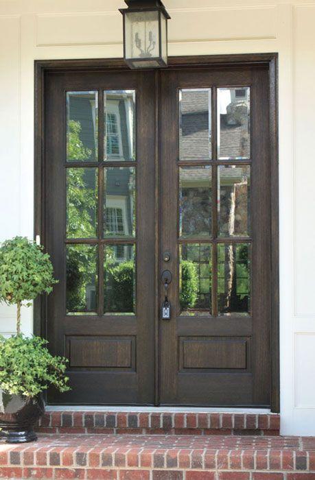 Mahogany Alexandria TDL 6 Lite Double Door #doublefrontentrydoors
