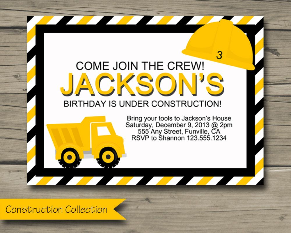 Download Now Truck Birthday Invitations Download this invitation for ...